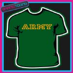 ARMY SLOGAN TSHIRT ALL SIZES & COLOURS SHANIZTOONS